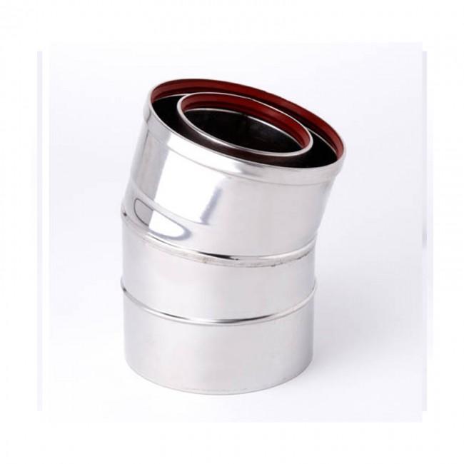 Gazco Balanced Flue Stainless Steel 15° Bend