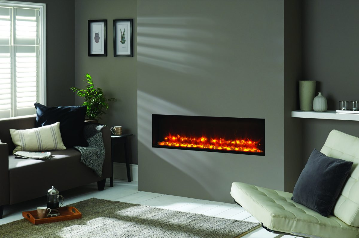 Radiance electric 105R with orange flame