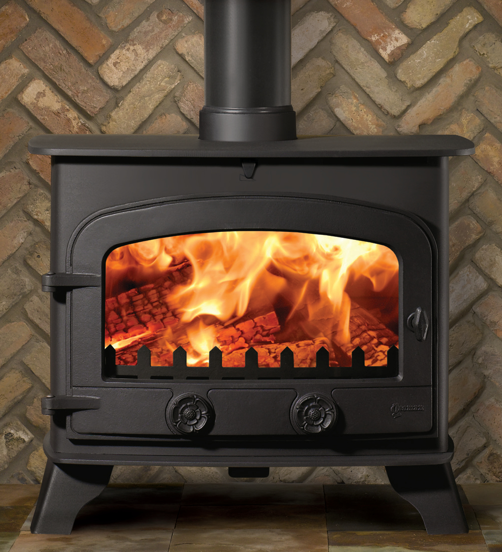 Yeoman County Wood Burning Stove Flat Top Single Door In