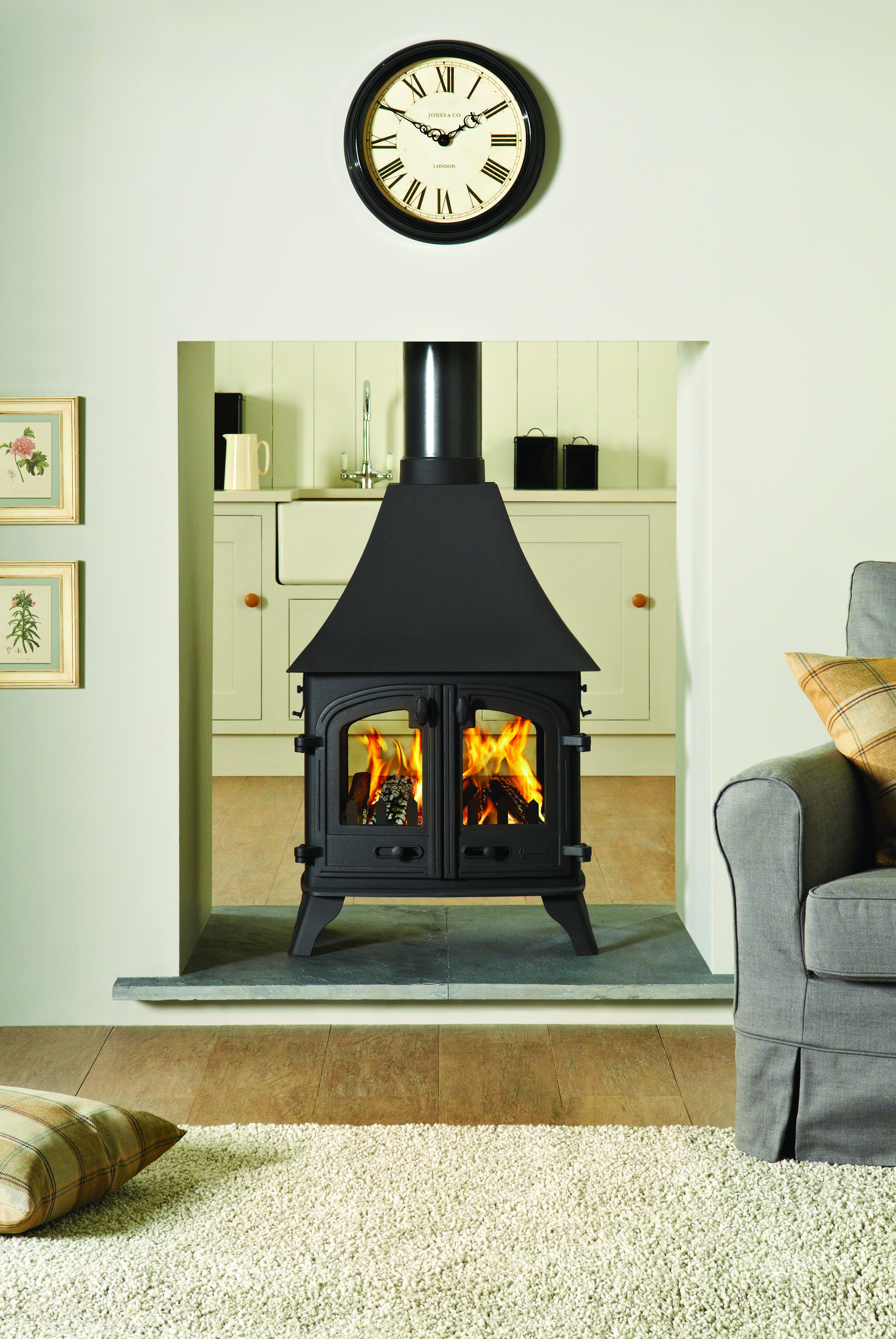 Yeoman Devon Double Sided Double Depth Wood Burning