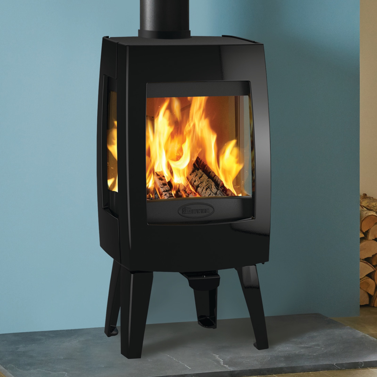 Dovre Sense 103 Wood Burning Stove With Side Glass And