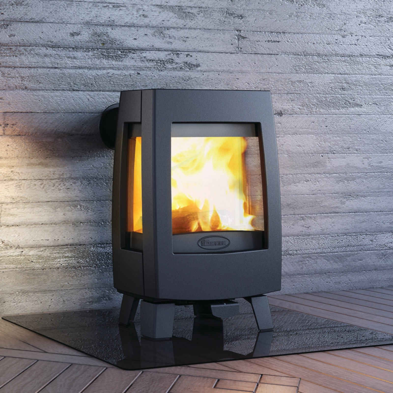 Dovre Sense 113 Wood Burning Stove With Glass Sides And