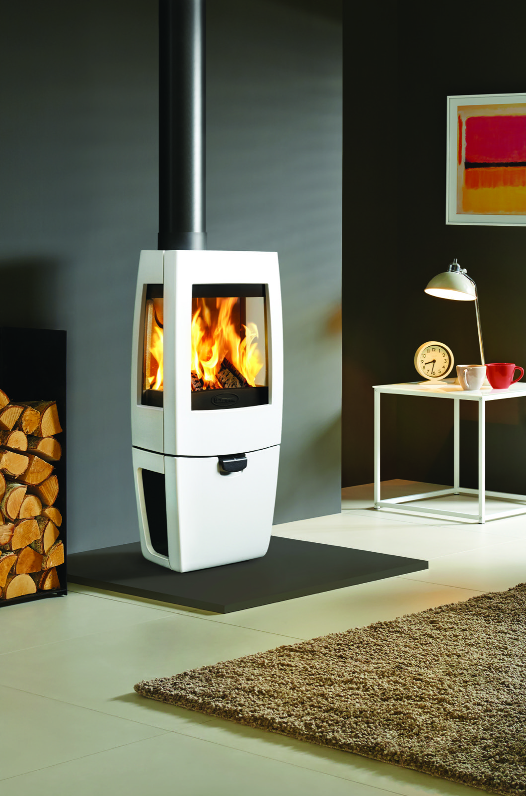 Dovre Sense 203 Wood Burning Stove With Glass Sides And