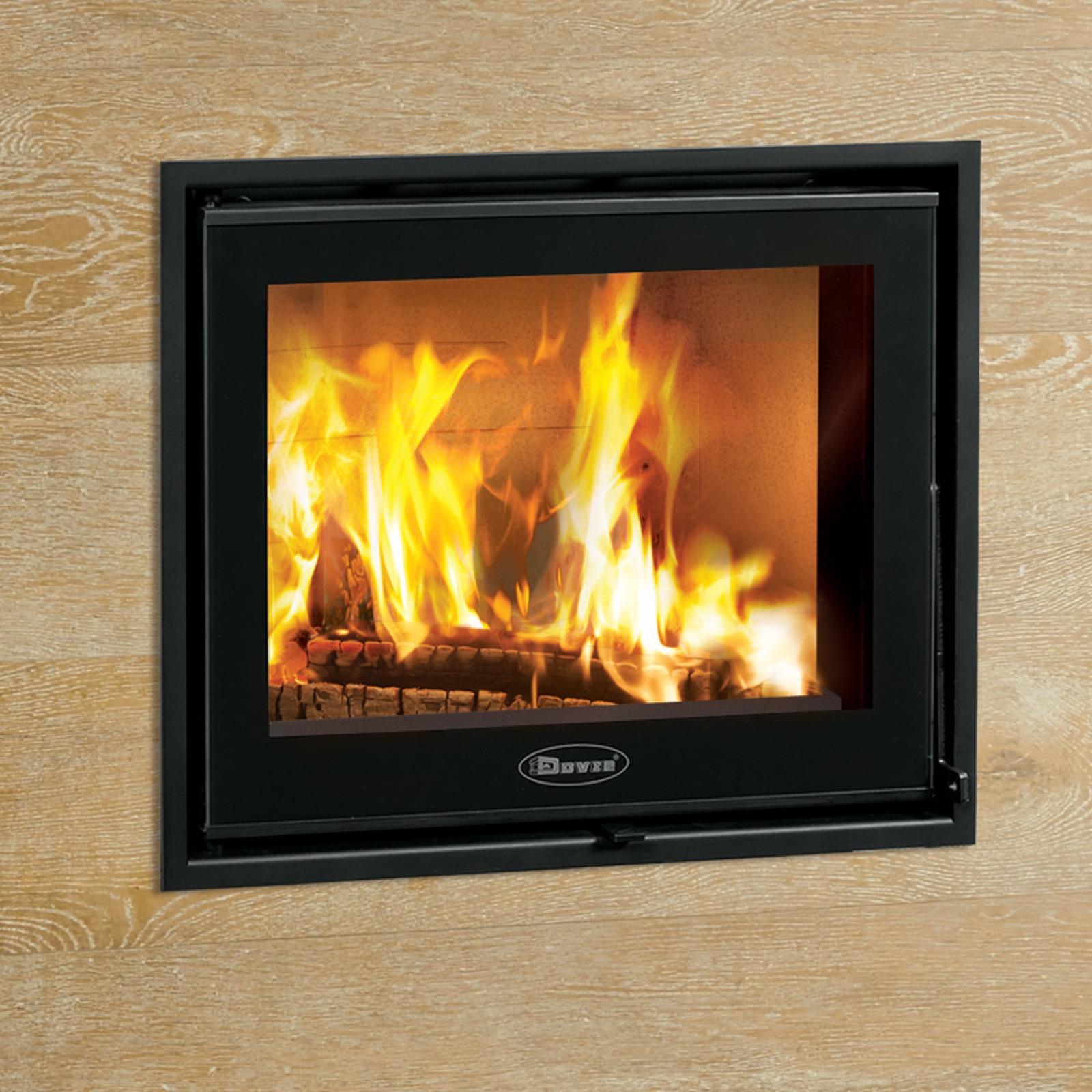 Dovre Zen 100 Single Sided Wood Burning Inset Cassette