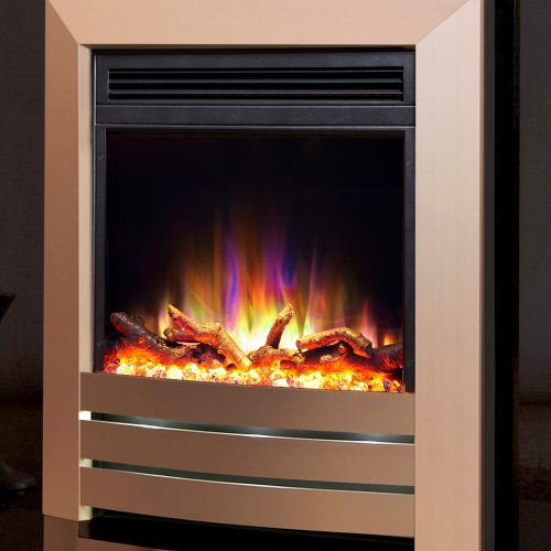 Celsi Electriflame XD Hearth Mounted Camber Electric Fire in Champagne