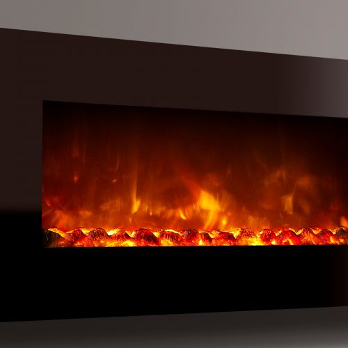 Celsi Electriflame XD Wall Mounted 1100 Piano Black Electric Fire