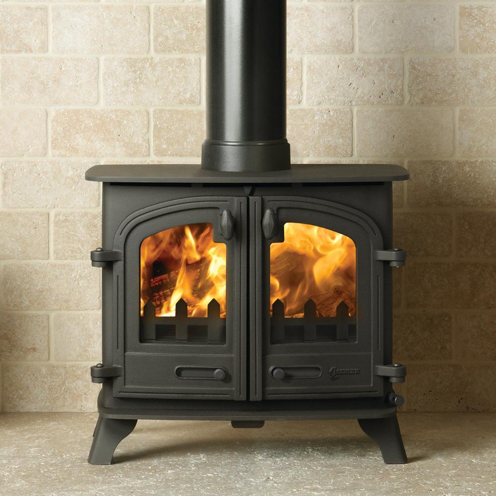 Yeoman Exe Flat Top Double Door Wood Burning Stove In