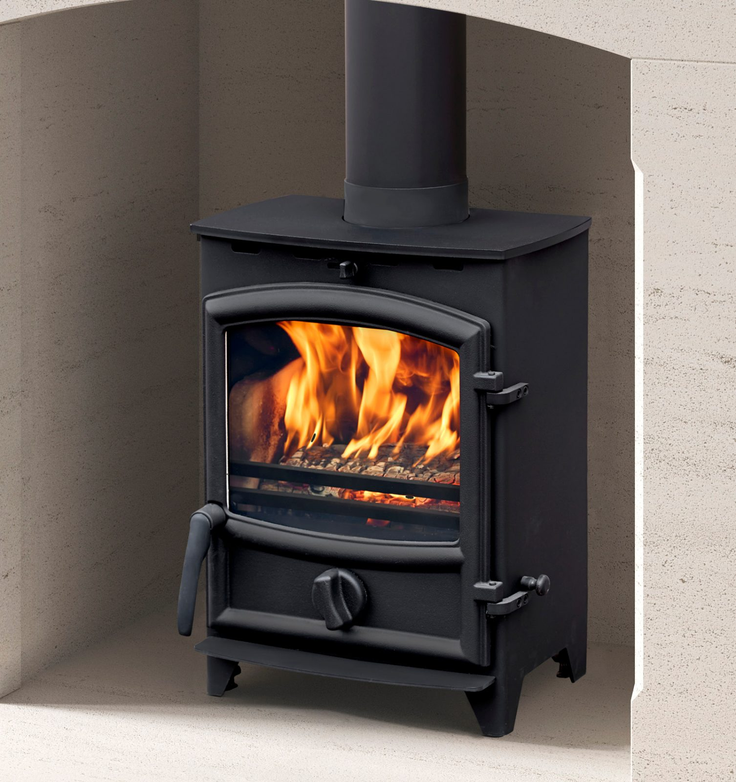 Fireline 4kw Multifuel Stove With Curved Door Simply Stoves