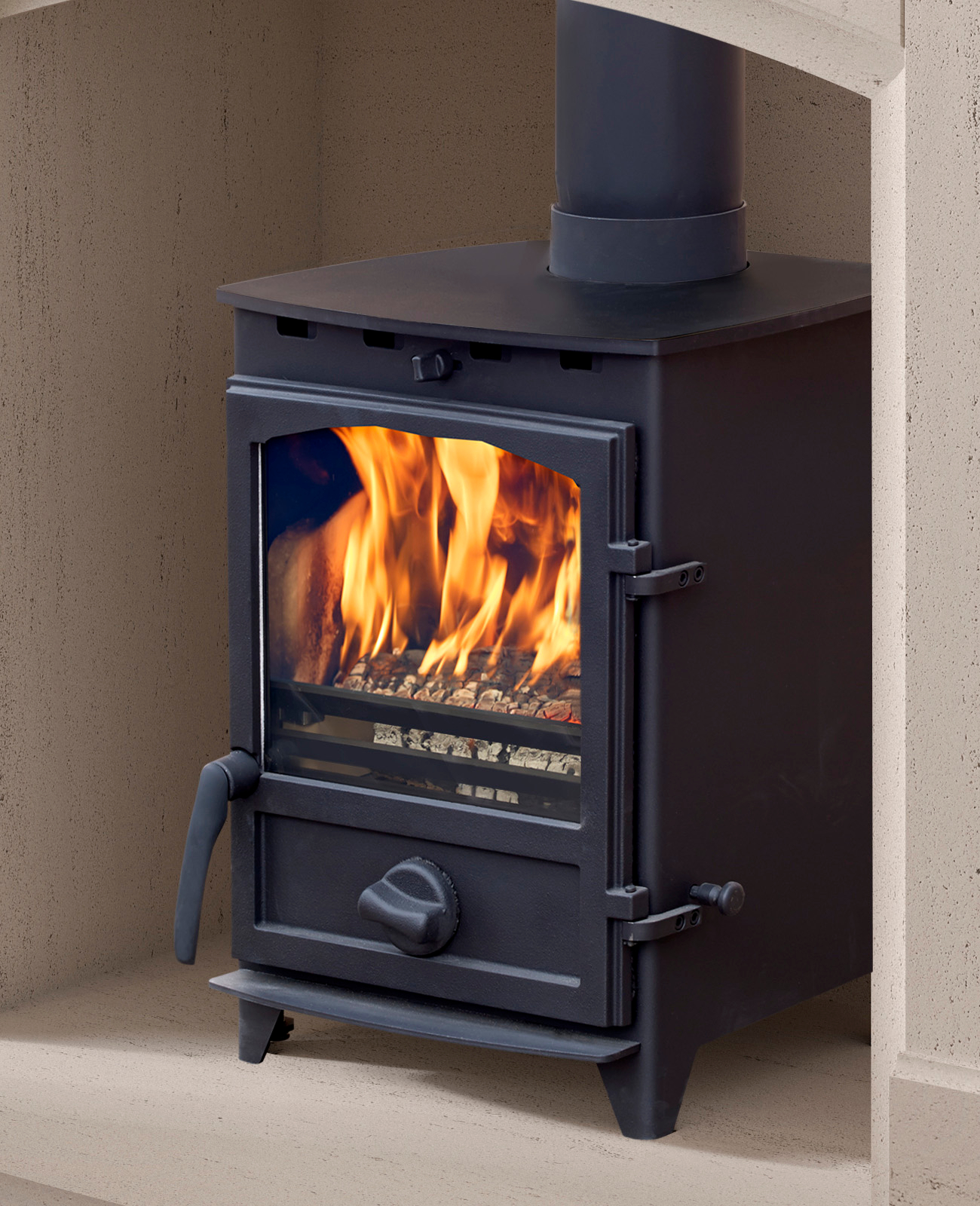 Fireline 5kw Multifuel Stove With Curved Door Simply Stoves