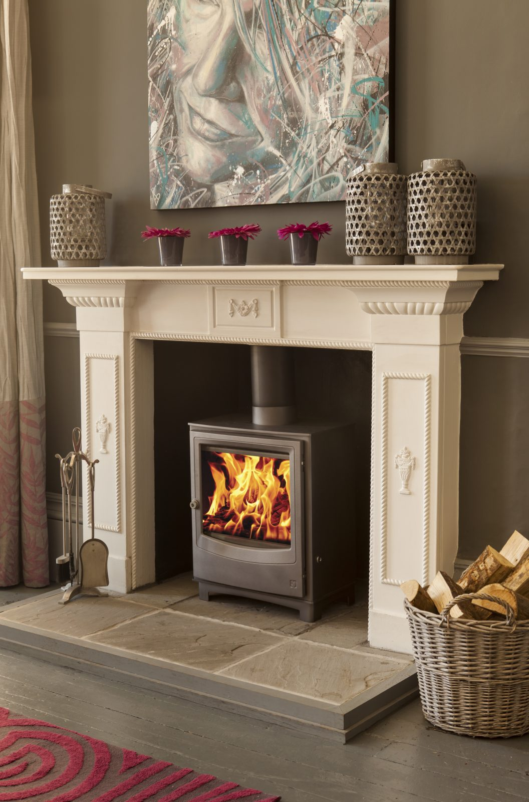Arada Farringdon Large Eco Multifuel Stove In Midnight