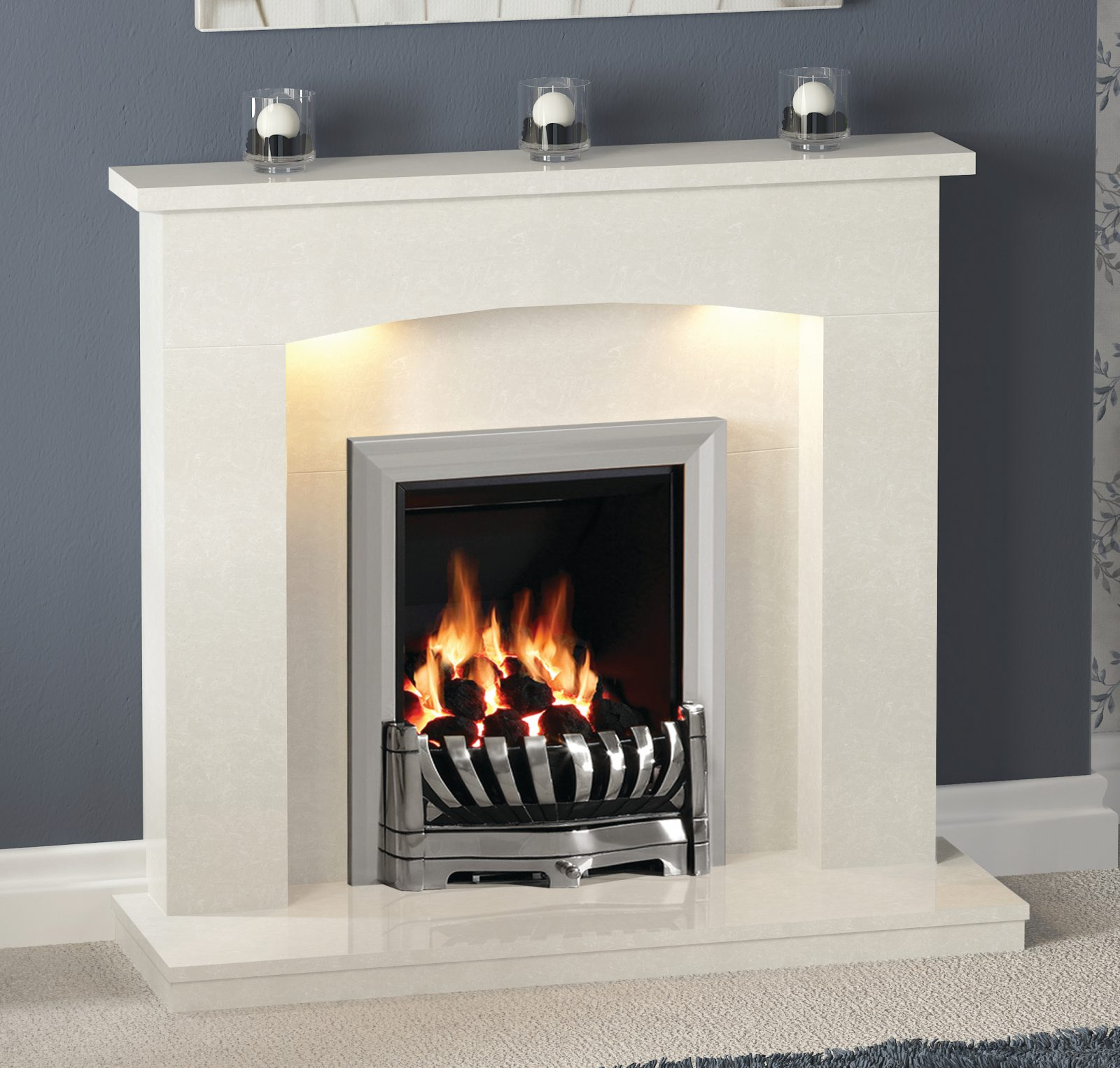 45 Quot Isabelle Micro Marble Surround In Manila With 45mm