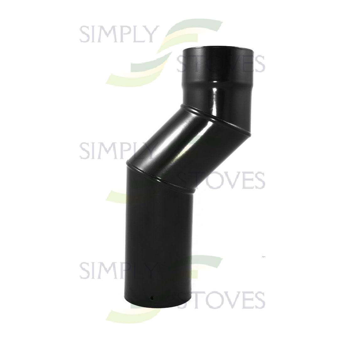 6 Quot 150mm Diameter Offset Vitreous Flue Bend In Black