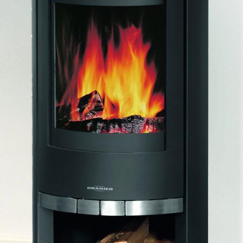Broseley Evolution Oranier Rota Wood Burning Stove with Steel Top
