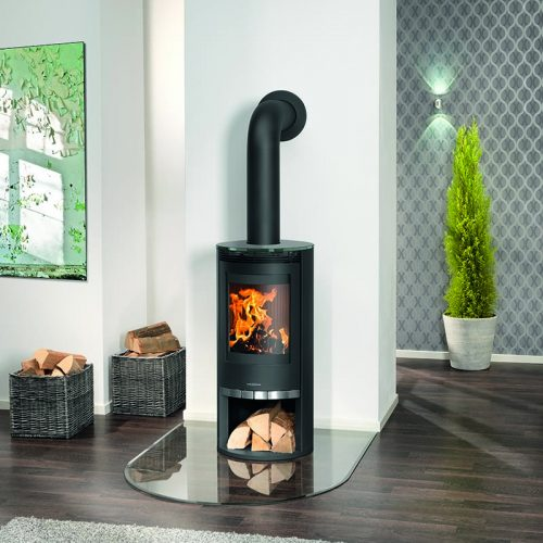 Broseley Evolution Oranier Rota Wood Burning Stove with Glass Top