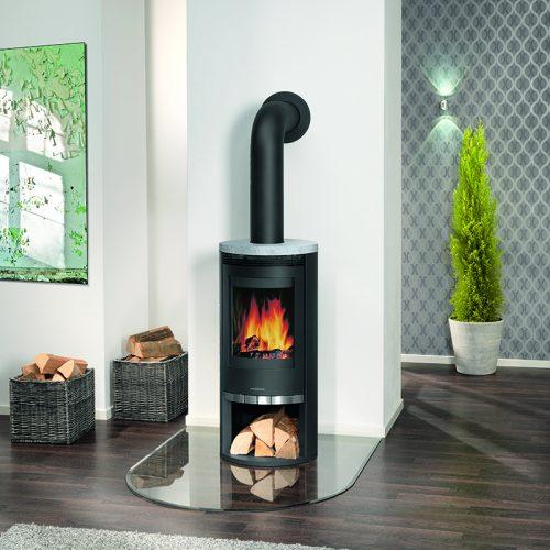 Broseley Evolution Oranier Rota Wood Burning Stove with Soapstone Top