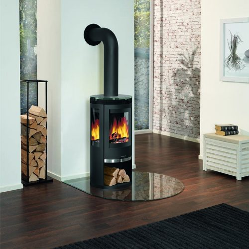 Broseley Evolution Oranier Rota Tre Wood Burning Stove with Glass Top