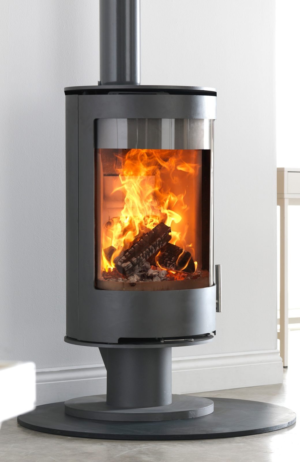 Purevision Pvr Cylinder Multifuel Stove On Low Pedestal