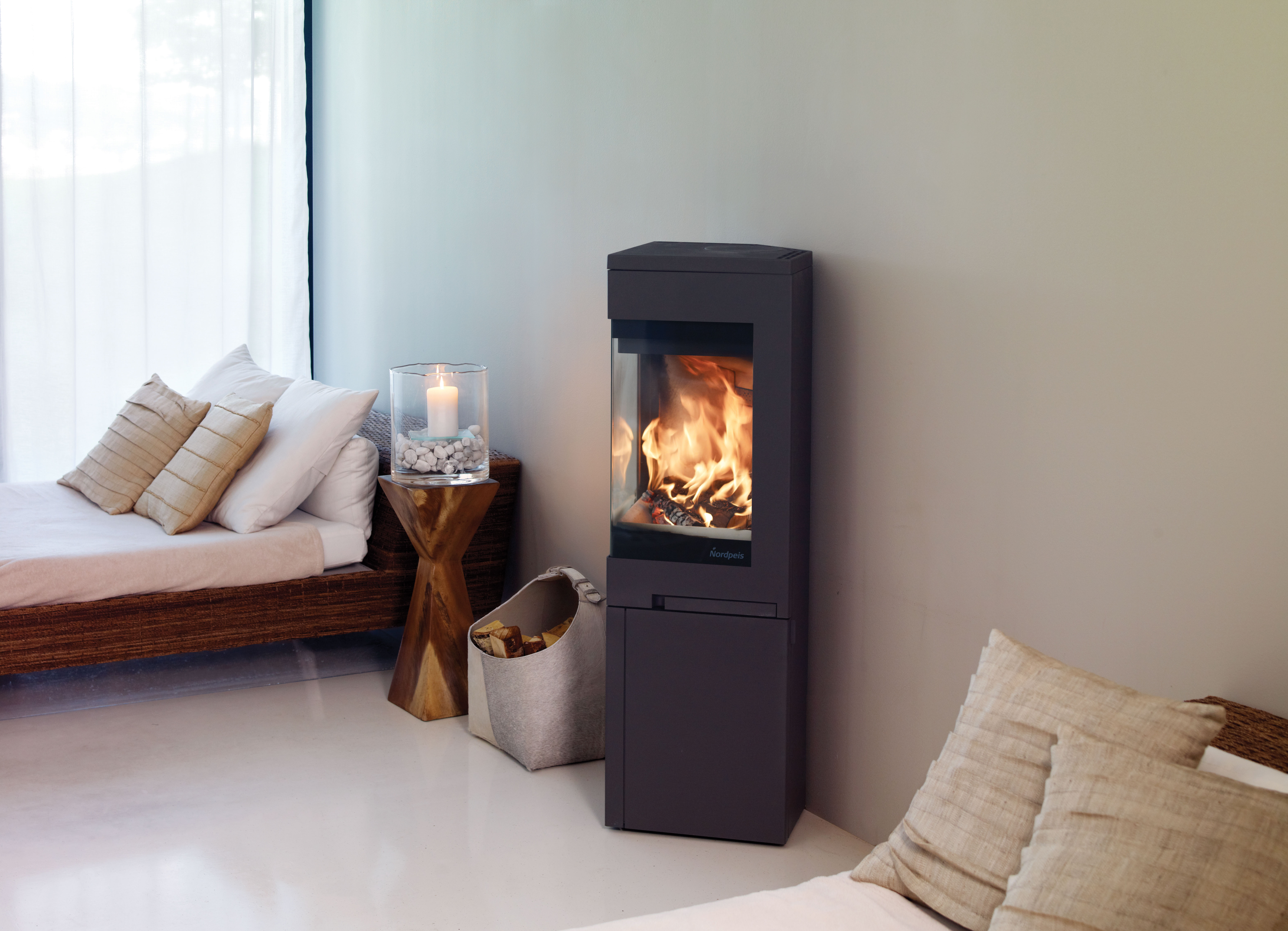 Nordpeis Quadro 2 Wood Burning Stove With Base Simply Stoves