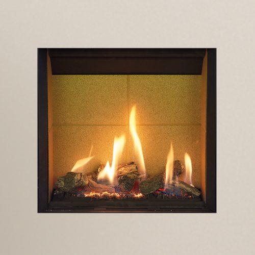 Gazco Riva2 500HL Slimline, Balanced Flue, LPG, Black Glass Lining, Gas Fire