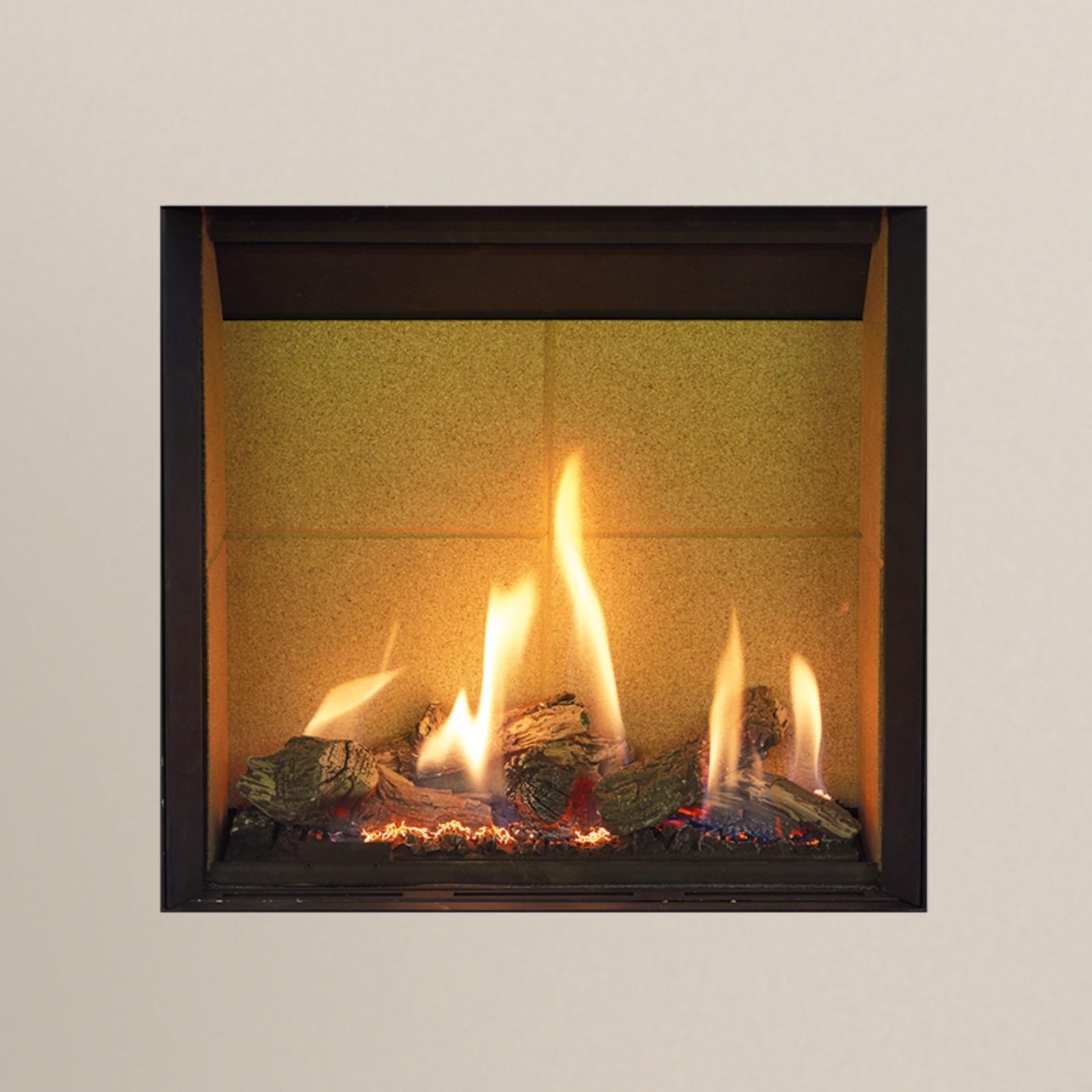 gazco riva2 500hl slimline balanced flue natural gas black