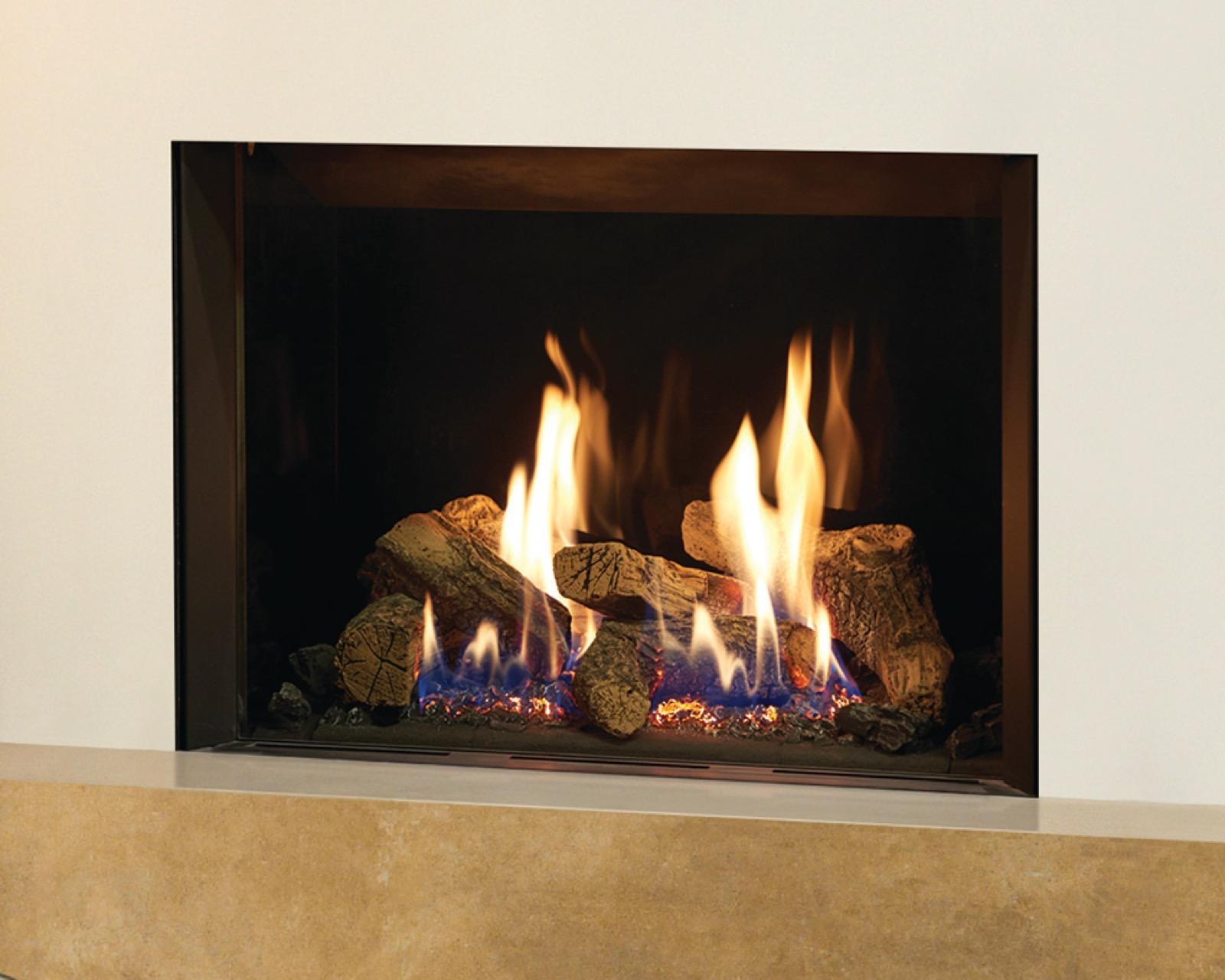 gazco riva2 500 conventional flue lpg black glass lining gas rh simplystovesuk com glass stones for gas fireplace glass rocks for gas fireplace