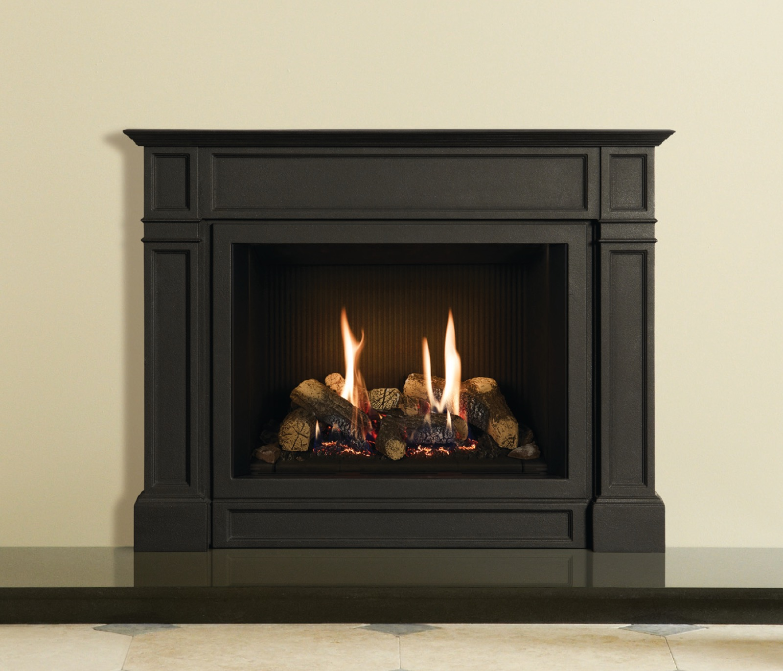 Ellingham Front Frame Only In Matt Black Cast Iron For