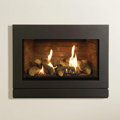 Gazco Riva2 670 Balanced Flue, Natural Gas, Black Glass Lining, Gas Fire