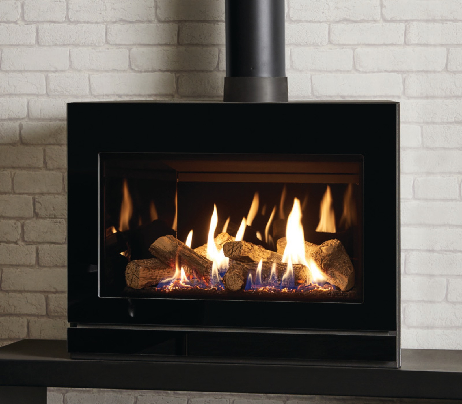 freestanding fireplace north gas stove true watch youtube