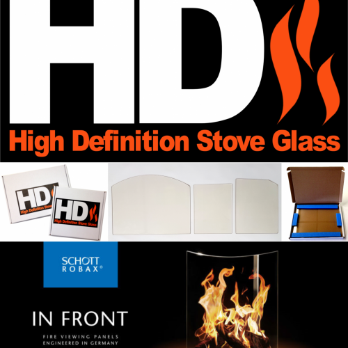 High Definition Replacement Stove Glass