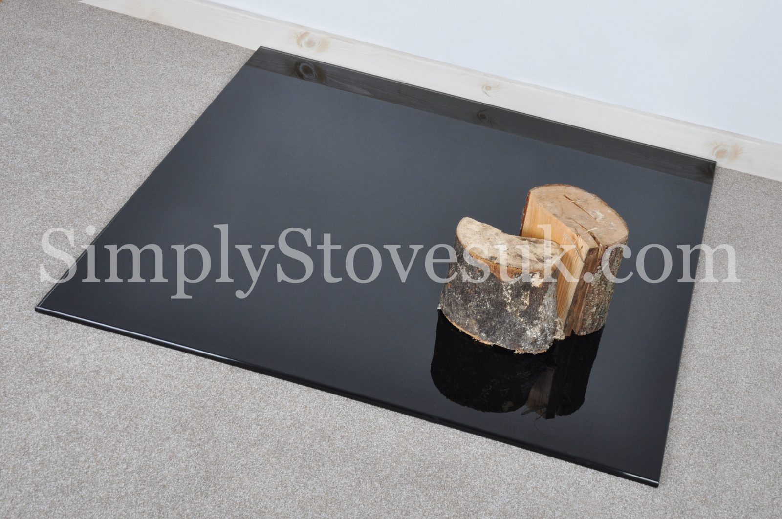 Black Square Medium Glass Hearth Floor Plate Simply Stoves