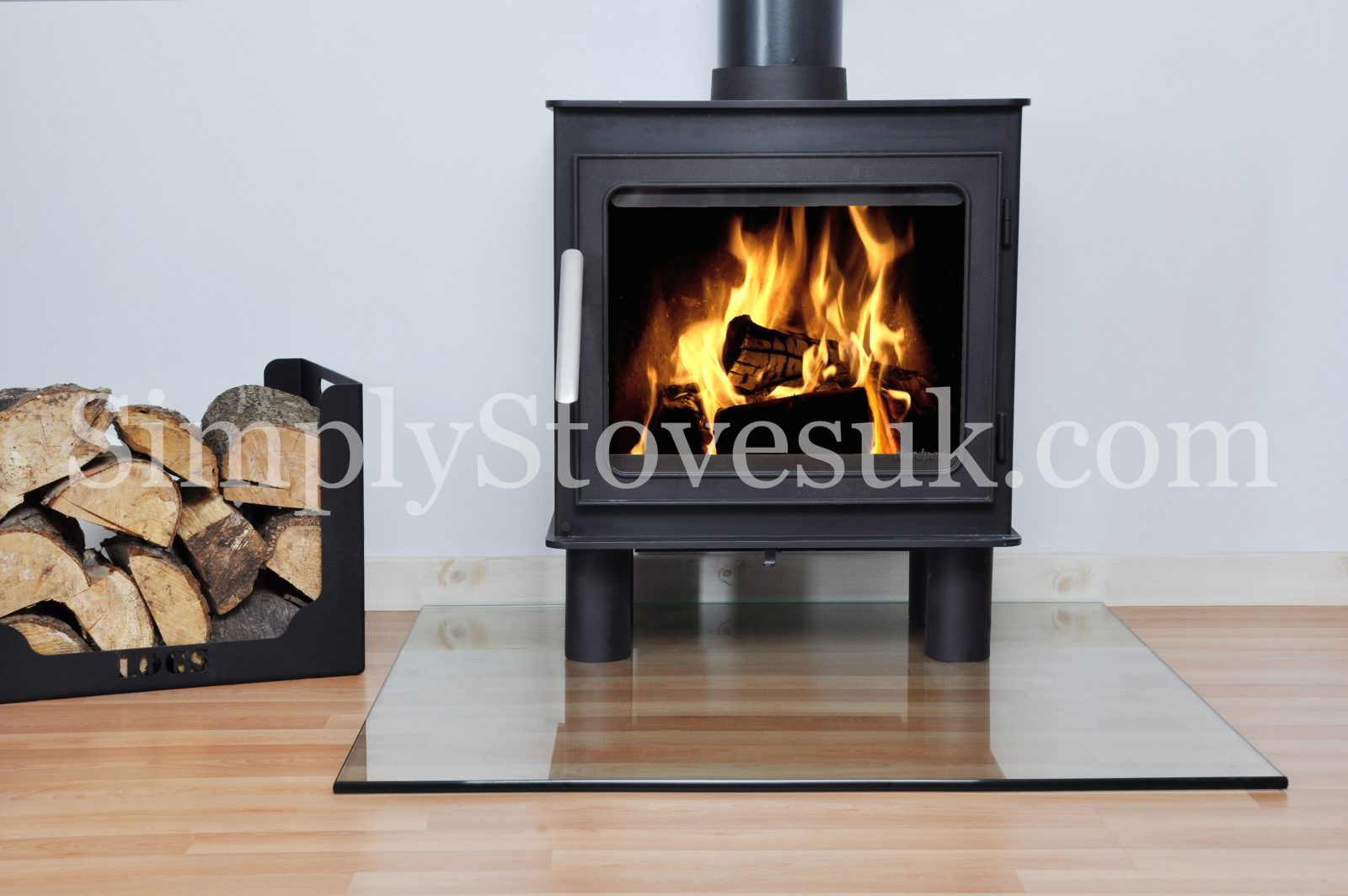 Square Medium Glass Hearth Floor Plate Simply Stoves