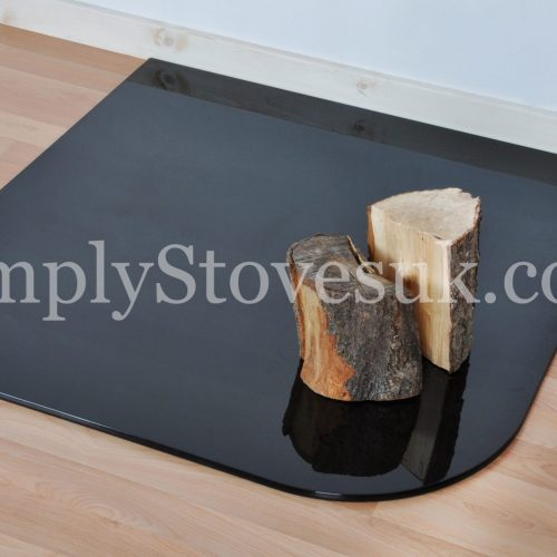 Smoked Standard Small Glass Hearth / Floor Plate