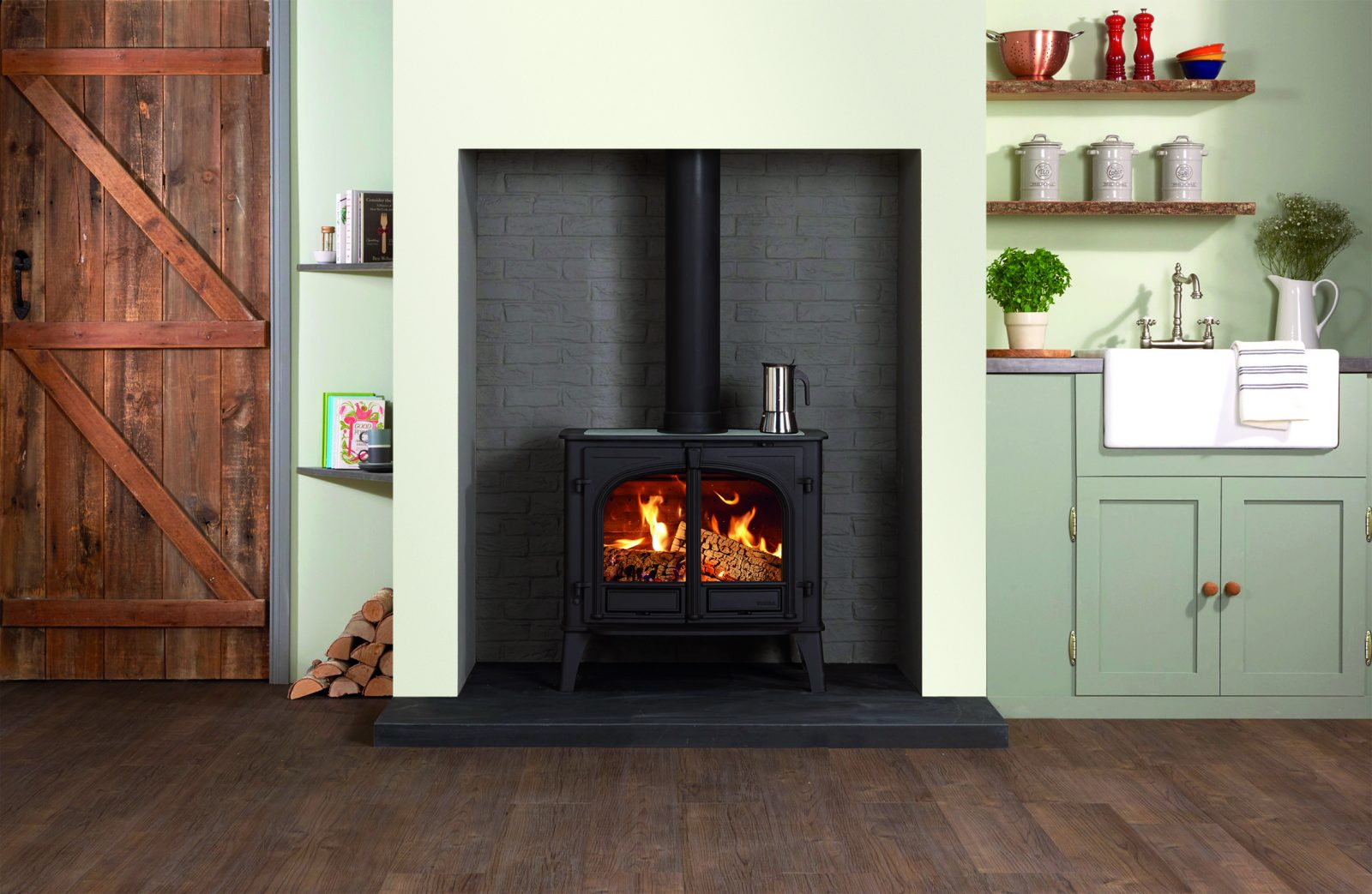 Stovax Stockton 11 Single Door Wood Burning Cook Stove