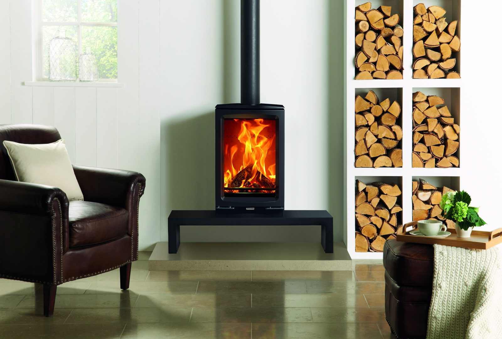 Stovax Vogue Midi T Wood Burning Eco Stove With Cast Iron