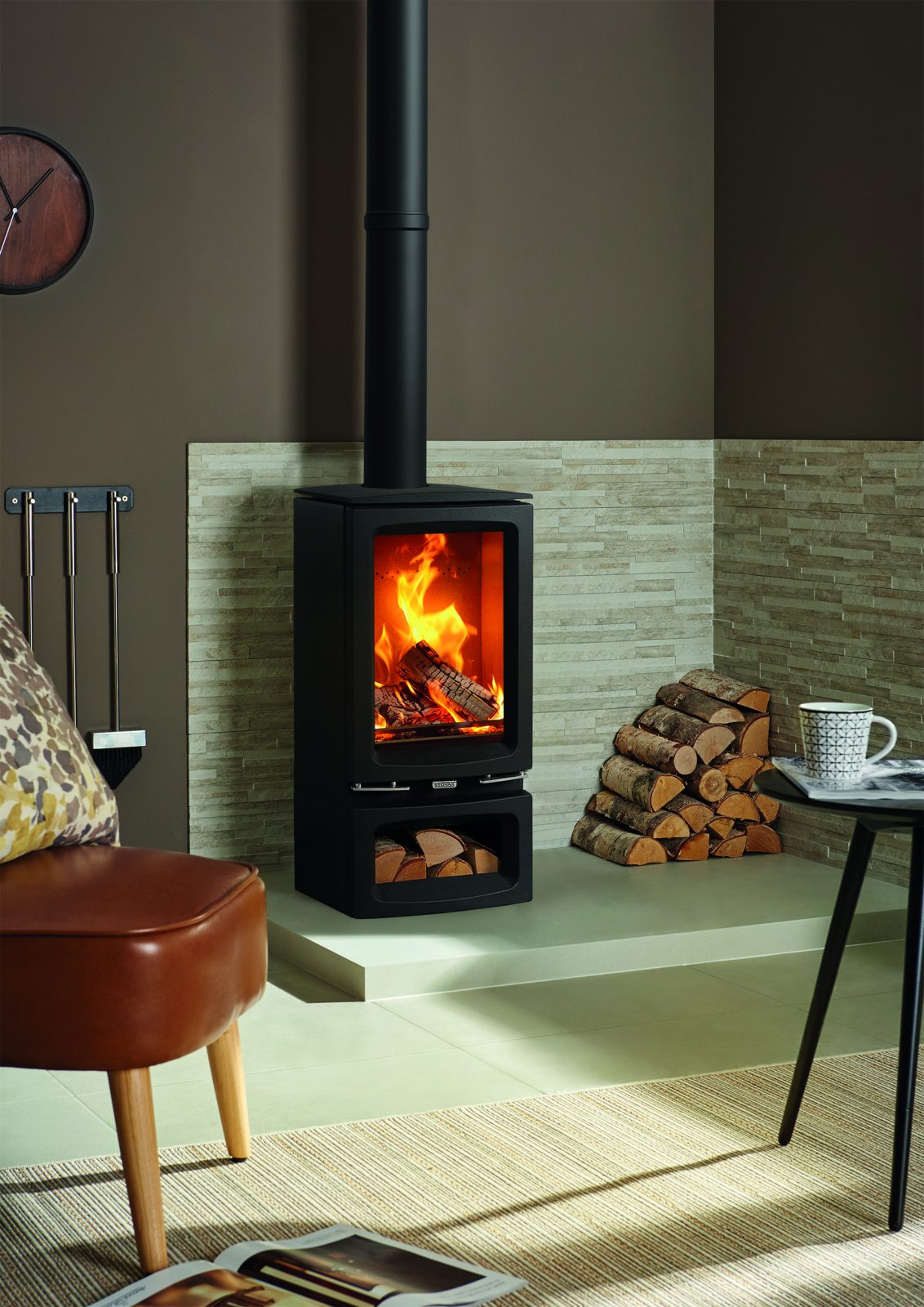 Stovax Vogue Small T Wood Burning Eco Stove With Cast Iron