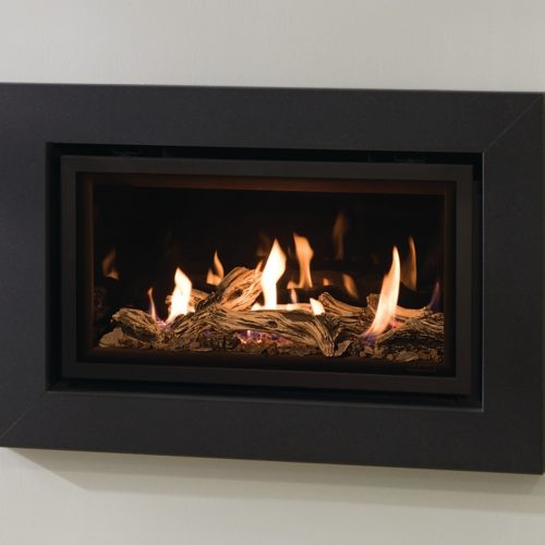 Gazco Expression Front/Frame Only - in Graphite for Studio 1 Slimline Glass  Fronted, Balanced Flue Gas Fire