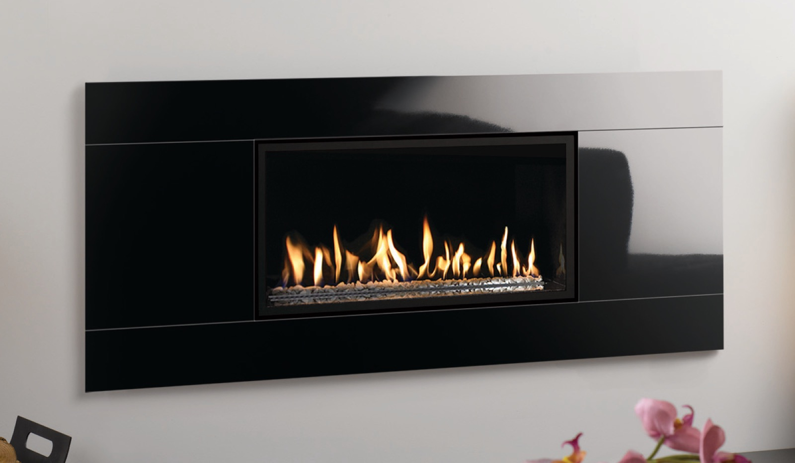 Gazco Glass Front Frame Only In Black For The Studio 1 Open Fronted Gas Fire Simply Stoves