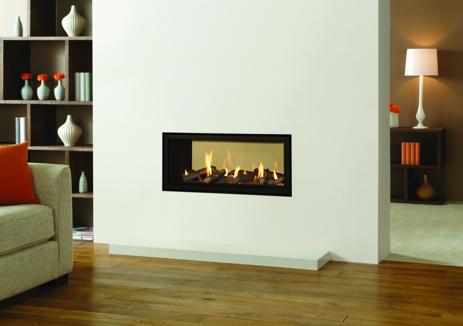 gazco studio 2 duplex double sided gas fire balanced flue
