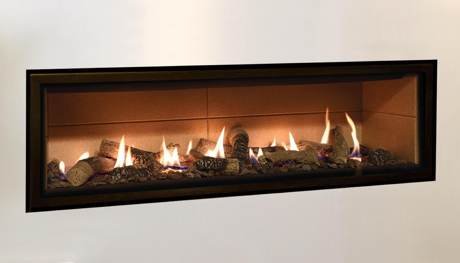 Gazco Studio 3 Edge Open Fronted Gas Fire With White