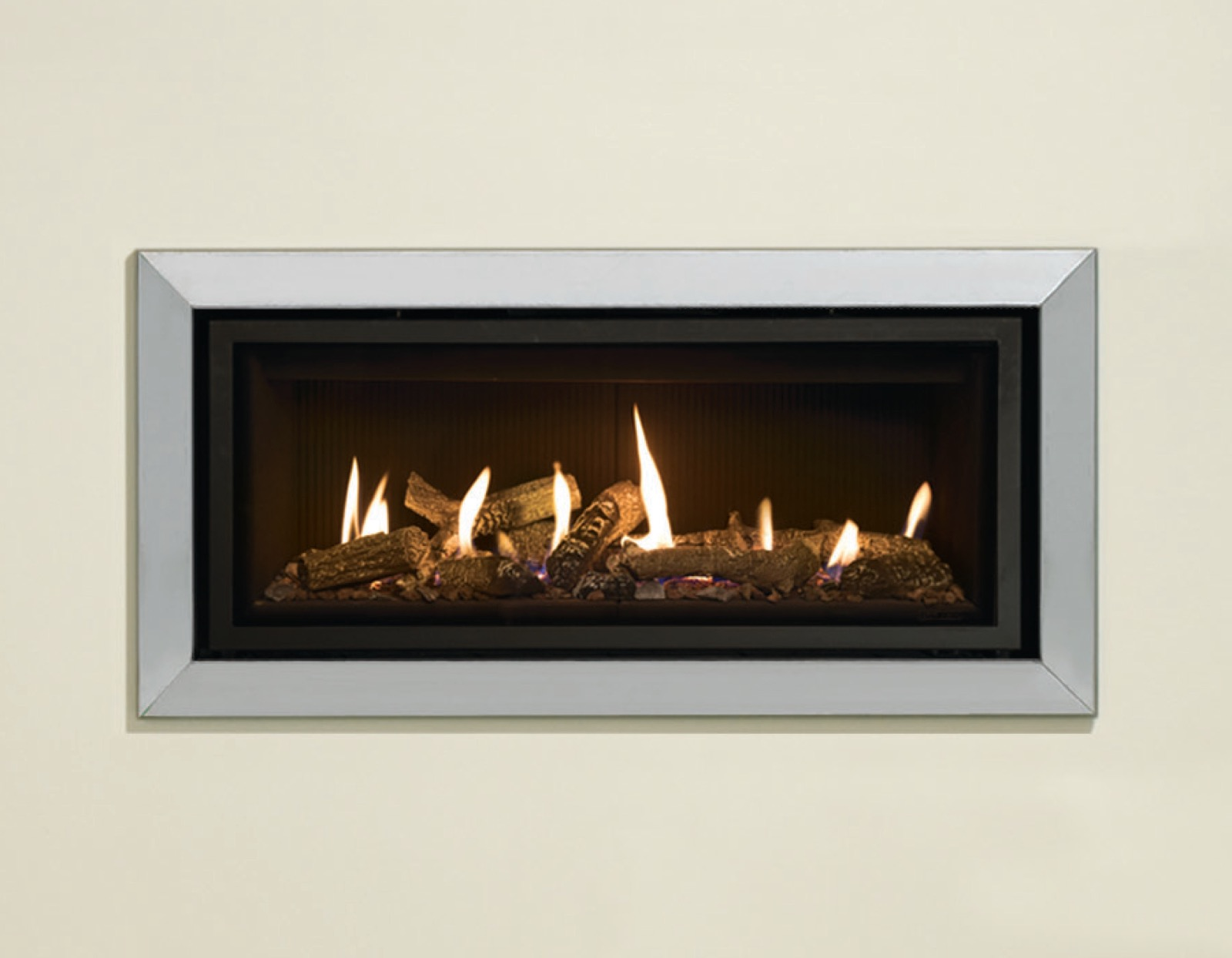 Gazco Bauhaus Front/Frame Only - in Polished Stainless Steel for ...