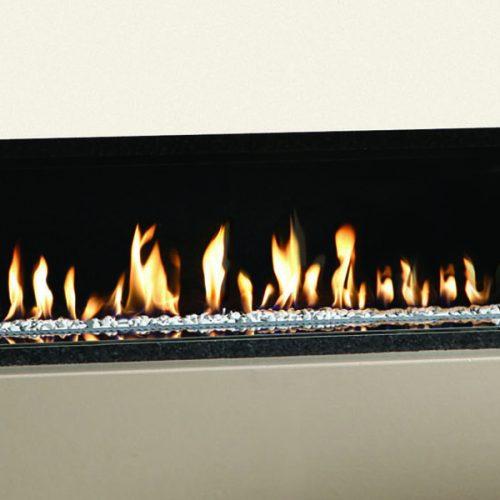 Gazco Studio 1 Edge Open Fronted Gas Fire with White Stones in LPG