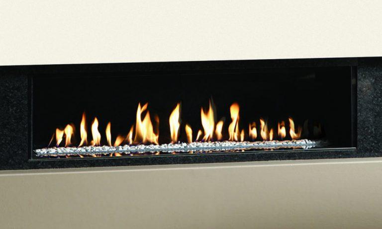 Gazco Studio 1 Edge Open Fronted Gas Fire with White ...