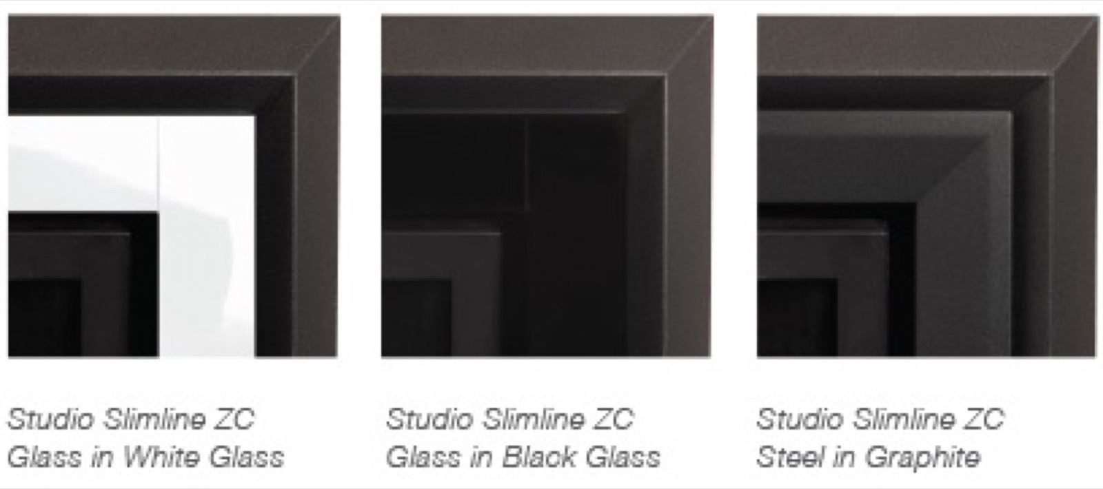 Gazco Zero Clearance Frame Kit in Black Glass for Studio 1 Slimline Glass  Fronted Gas Fire