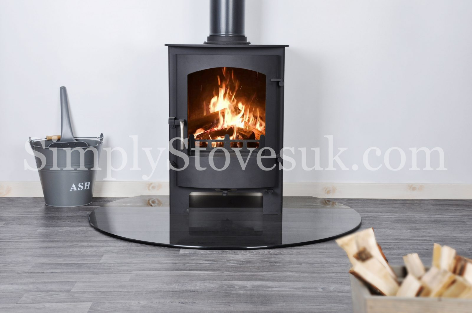 Smoked Truncated Glass Hearth Floor Plate Simply Stoves