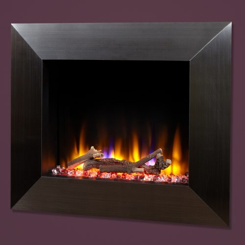 """Celsi Ultiflame VR Impulse 22"""" Wall Inset Electric Fire in Black"""