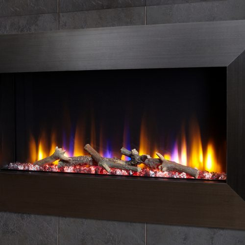 """Celsi Ultiflame VR Instinct 33"""" Wall Inset Electric Fire in Black"""