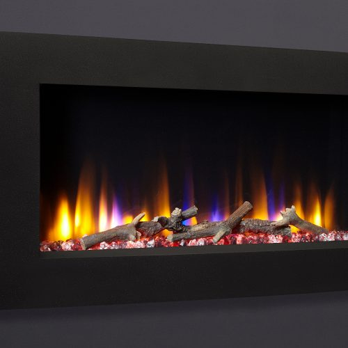 """Celsi Ultiflame VR Vichy 33"""" Wall Inset Electric Fire in Black"""