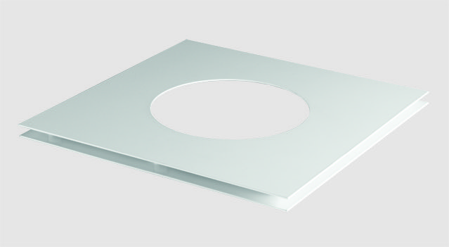 Stovax Professional XQ 5\u2033 Decorative Ceiling Cover Plate \u2013 White & Stovax Professional XQ 5\