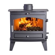 Avalon 8 Slimline Wood Burning Stove with a Stainless Steel handle
