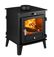 Avalon 4 Double Sided Single Depth Wood Burning Stove with Stainless Steel Handles